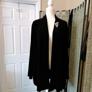 Sag Harbor Black Velvet Jacket
